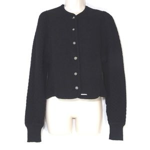 Geiger of Austria Button Up Wool Cardigan Sweater